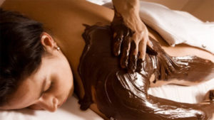 Swiss Wellness Day Spa Signature Treatments - Woman Patient on Chocolate Body Indulgence Treatment